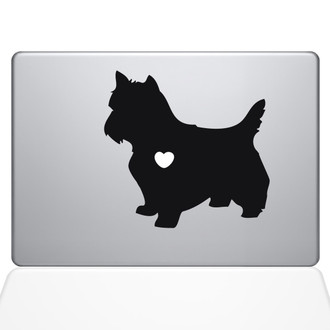 I Love My Yorkshire Terrier Macbook Decal Sticker Black
