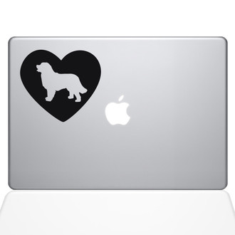 Heart Bernese Mountain Dog Macbook Decal Sticker Black