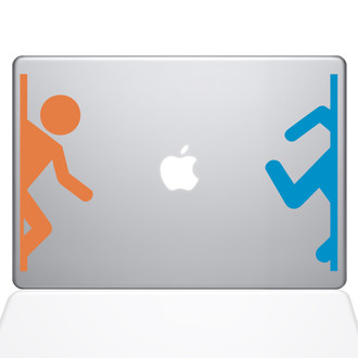 Portal Person Macbook Decal Sticker Silver