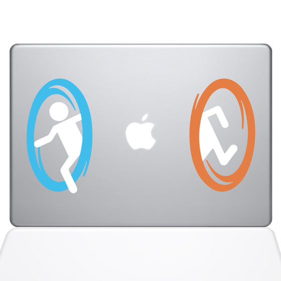 Portal Macbook Decal Sticker Silver