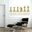Chess Weapons Wall Decal