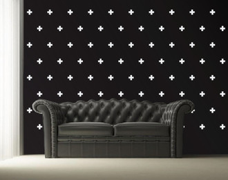 Swiss Cross Pattern Wall Decal