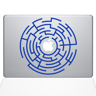 Circle Maze Runner Macbook Decal Sticker Dark Blue