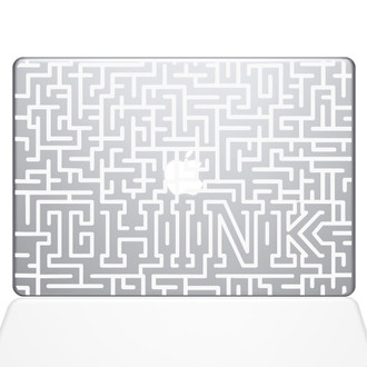 Think Maze Macbook Decal Sticker White