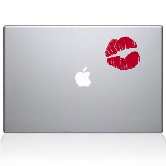 Kissy Lips Macbook Decal Sticker Silver