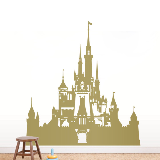 Disney castle wall decal the decal guru for Castle wall mural sticker