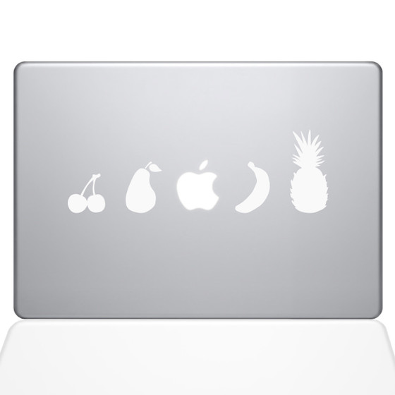 Fruit Lineup Macbook Decal Sticker White