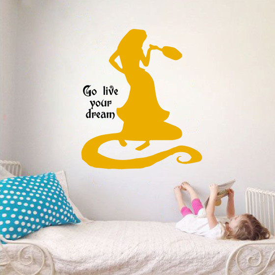 Rapunzel Wall Decal The Decal Guru - Yellow wall decals