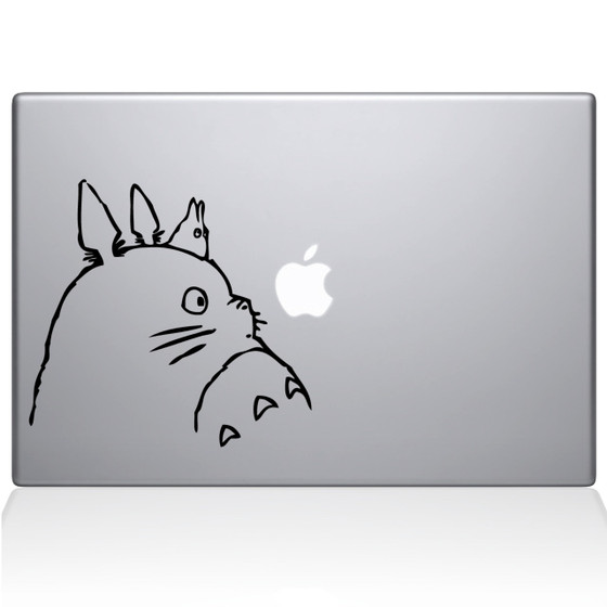 Totoro Macbook Decal Sticker Black