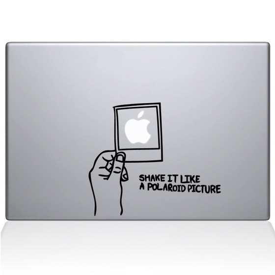 Shake it Like a Polaroid Picture Macbook Decal Sticker Black