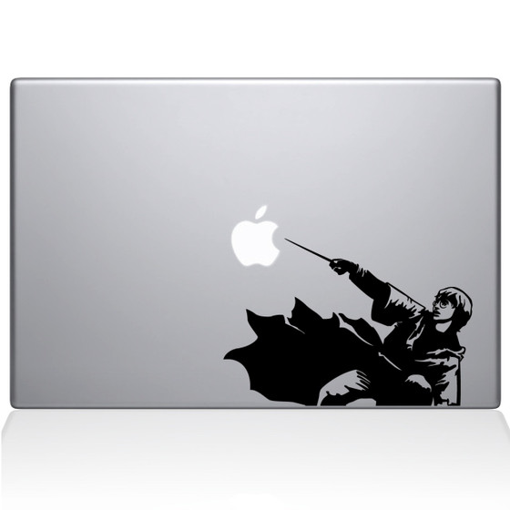 Harry Potter Patronus Macbook Decal Sticker Black