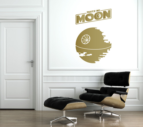 ... Star Wall Decal. //d3d71ba2asa5oz.cloudfront.net/12019661/images/1391% & Thatu0027s No Moon Death Star Wall Decal - The Decal Guru