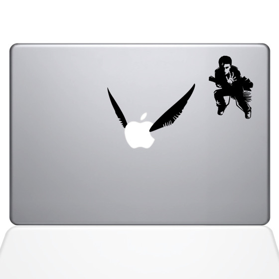Harry Potter Quidditch Macbook Decal Sticker Black