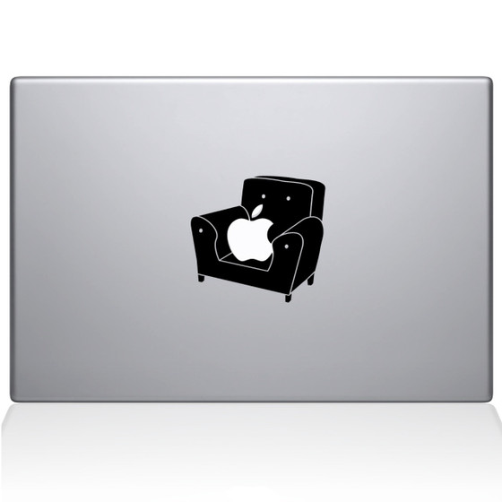 Couch Apple Macbook Decal Sticker Black