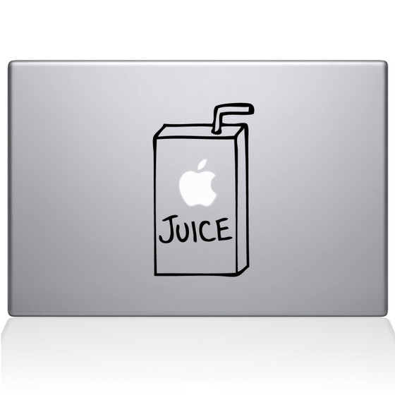 Apple Juice Macbook Decal Sticker Black