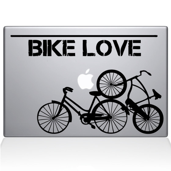 Bike Love Macbook Decal Sticker Black