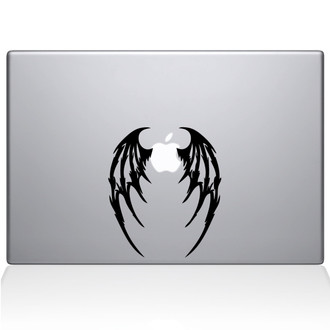 Demon Wings Macbook Decal Sticker Black