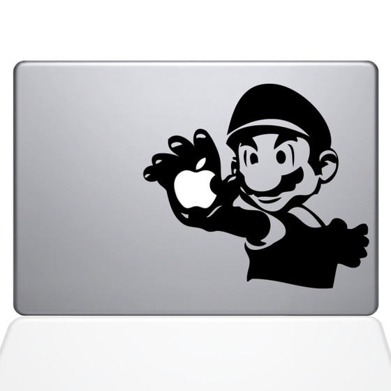 Mario Macbook Decal Sticker Black