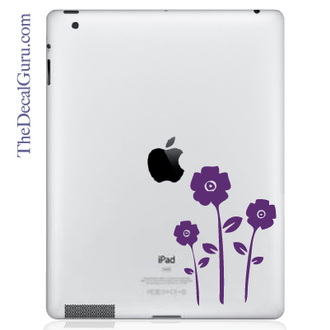 Flowers iPad Decal