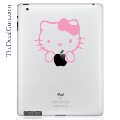 Hello Kitty Apple Logo iPad Decal