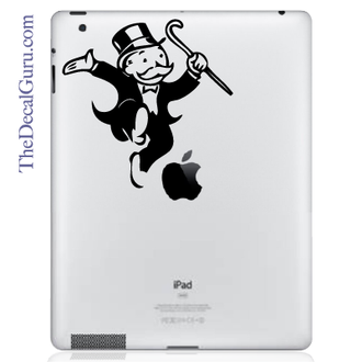 Mr. Monopoly iPad Decal