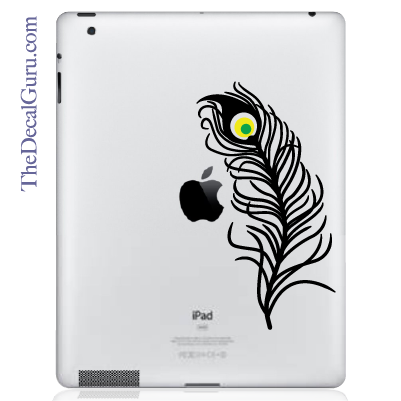 Peacock Feather iPad Decal