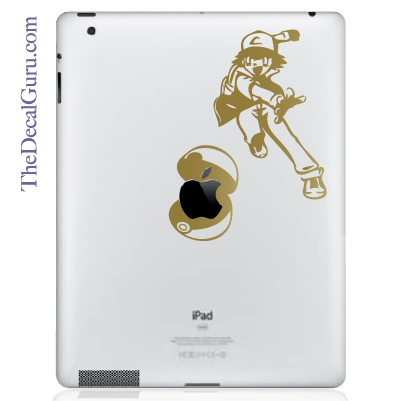 Pokemon Ash Pokeball iPad Decal