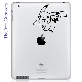 Pokemon Pikachu Jumping iPad Decal