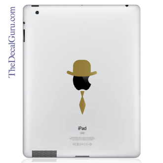 Top Hat & Tie iPad Decal