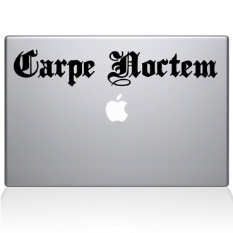 Carpe Noctem Seize the Night Macbook Decal Sticker Black
