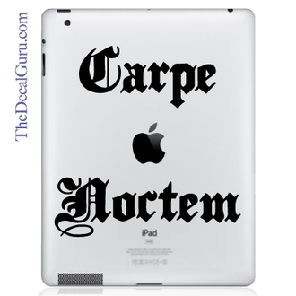 Carpe Noctem Seize the Night iPad Decal