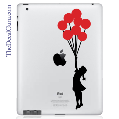Banksy Balloons Girl iPad Decal