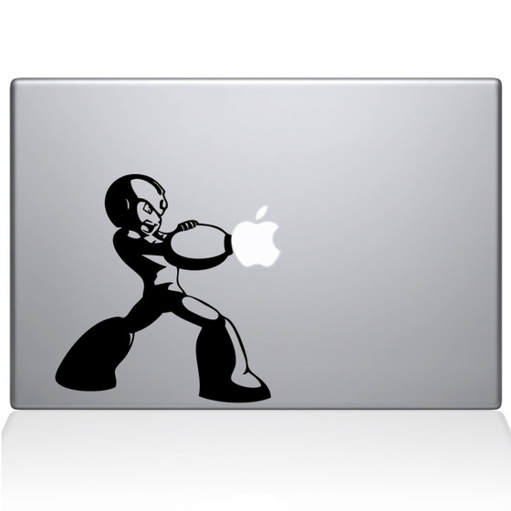 Megaman Macbook Decal Sticker Black