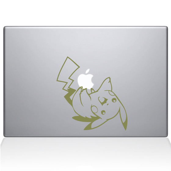 Pikachu Pokemon Macbook Decal Sticker Gold