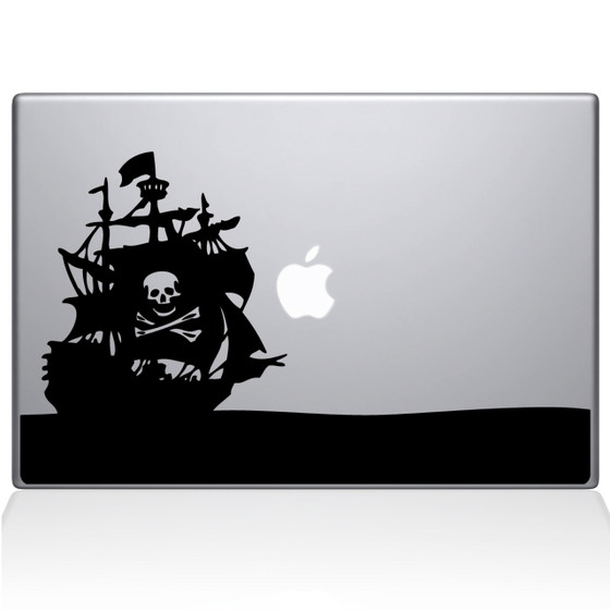 Pirate Bay Macbook Decal Sticker Black
