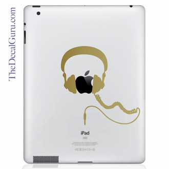 Headphones iPad Decal