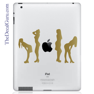 Posing Ladies iPad Decal