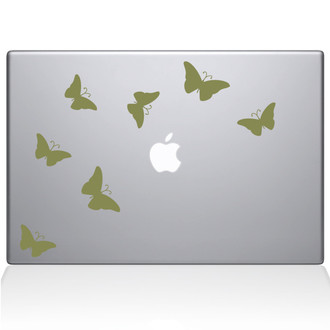 Butterflies Decal Macbook Decal Sticker Gold