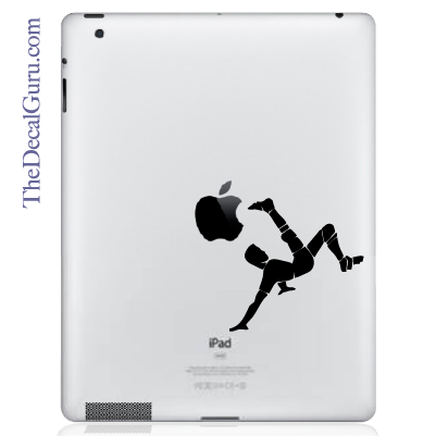 Soccer Bicycle Kick iPad Decal sticker