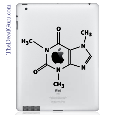 The Molecular Structure of Coffee iPad Decal