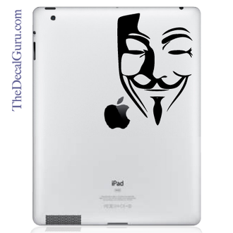 V for Vendetta Guy Fawkes Mask iPad Decal sticker