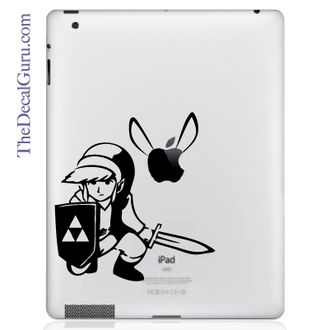 Zelda Link & Fairy iPad Decal sticker