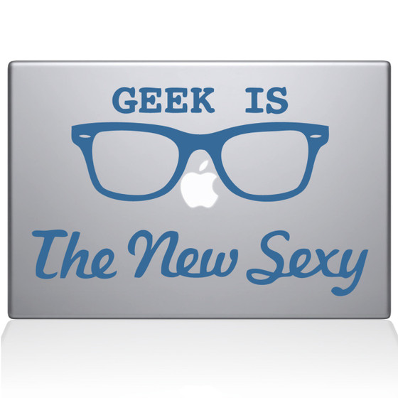 Geek is the New Sexy Macbook Decal Sticker Black