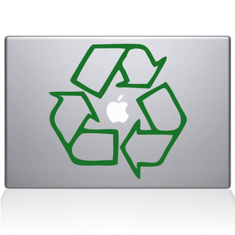 Go Green Recycle Macbook Decal Sticker Green