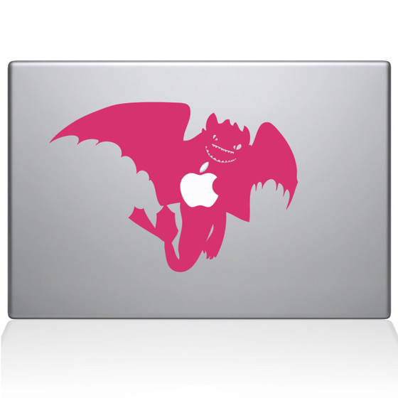 How To Train Your Dragon Night Fury Macbook Decal Sticker Black