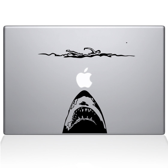 Jaws Macbook Decal Sticker Black