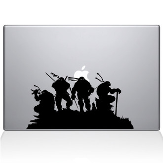 Ninja Turtles Macbook Decal Sticker Black