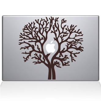 Apple Tree Macbook Decal Sticker Brown