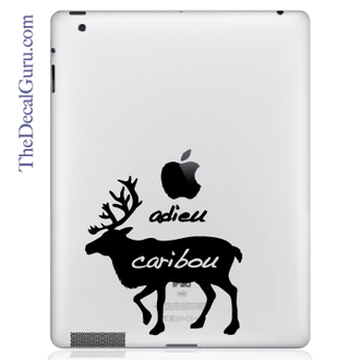Adieu Caribou iPad Decal