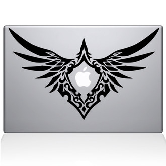 Bird of Prey Emblem Macbook Decal Sticker Black